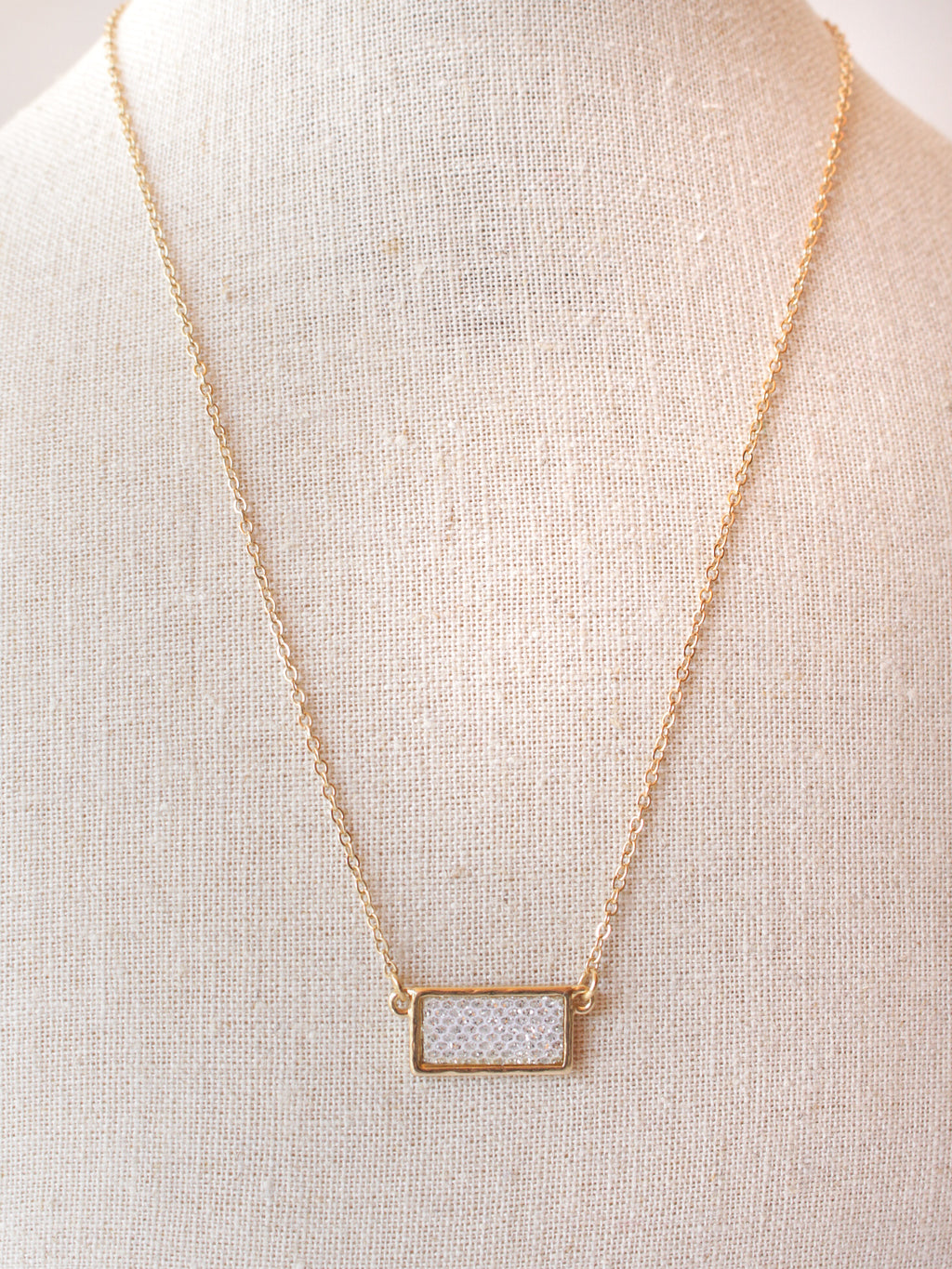 Small Glitter Bar Necklace