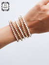 Turq Beaded Stretch Bracelet