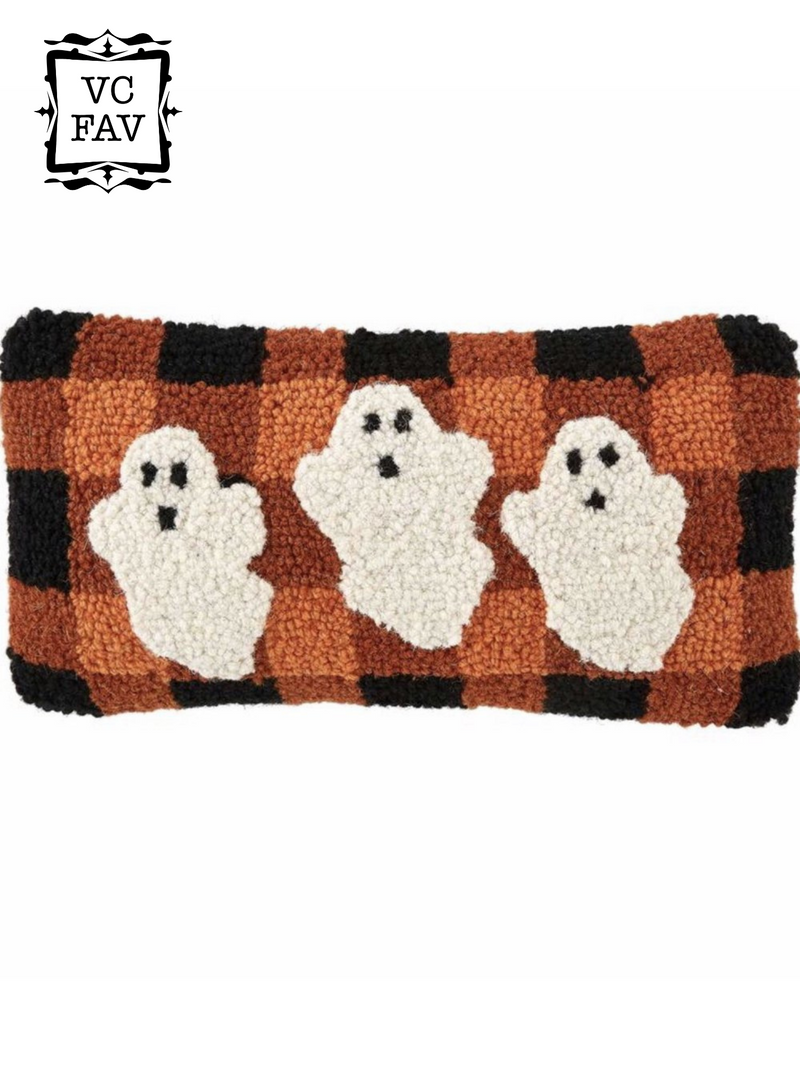 Trio Ghost Plaid Mini Pillow