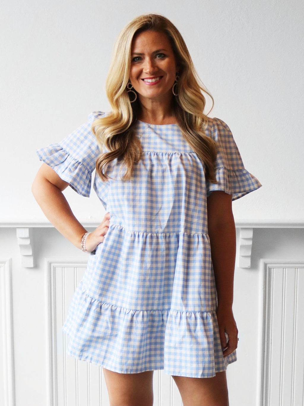 Picnic Plaid Tiered Dress