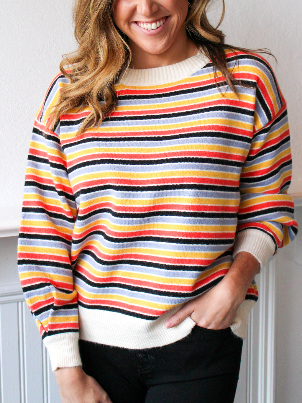 Striped Out Multi Sweater