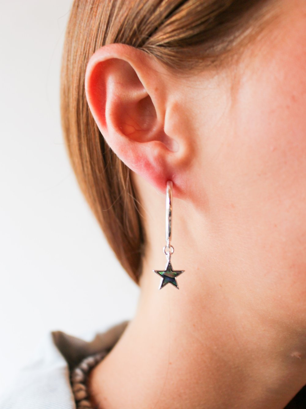 Star Charm Mini Hoops