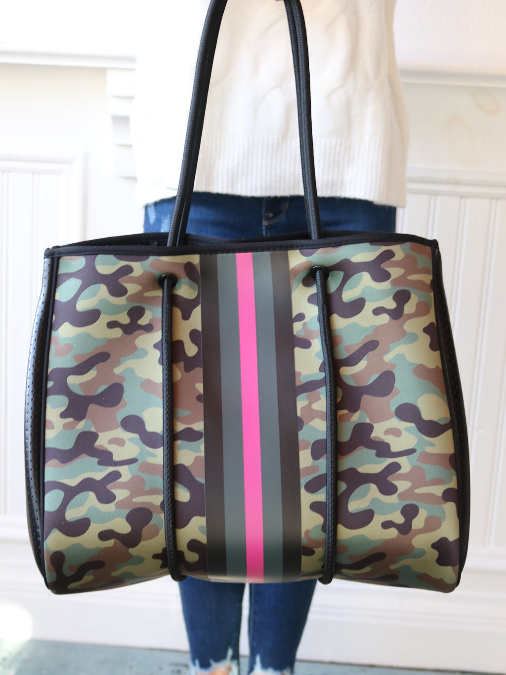 Ellie Pink Army Tote Bag