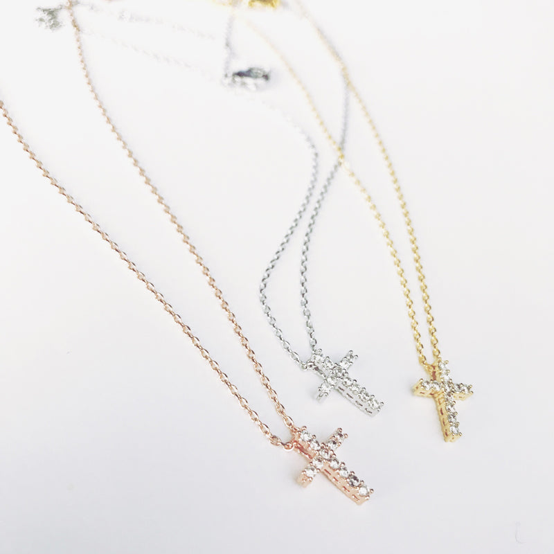 Pave Cross Necklace