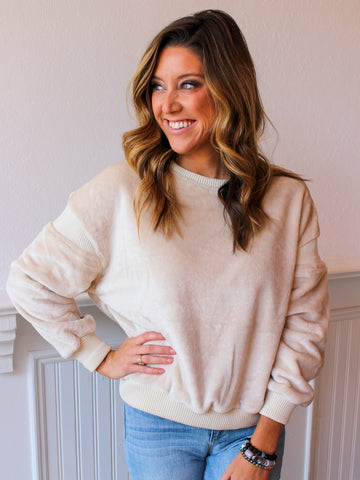It's A Breeze Sweater Top - White