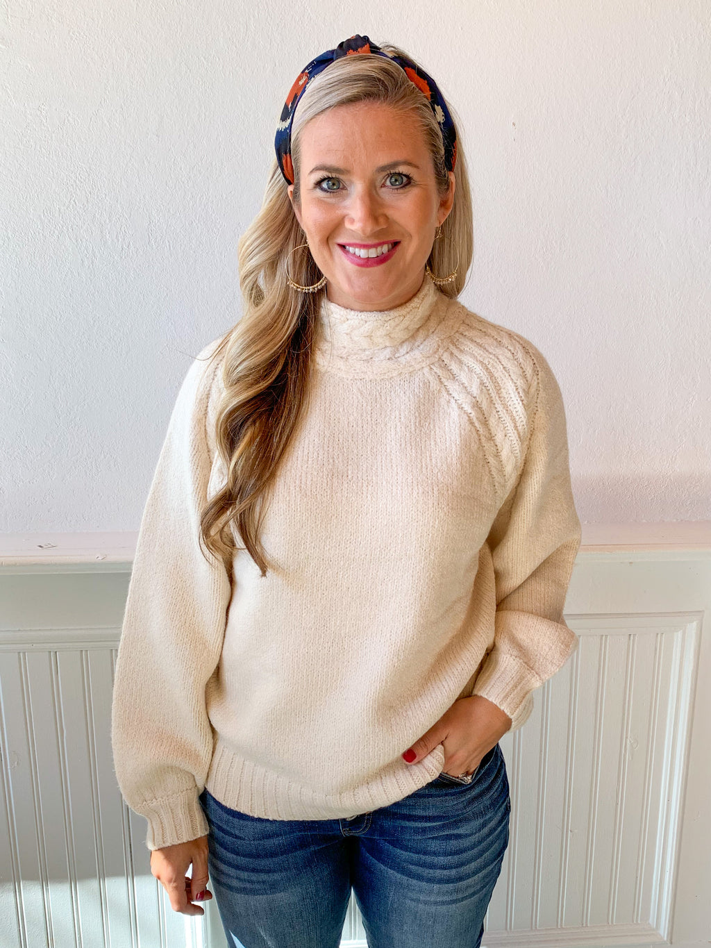 Josie Cable Neck Sweater