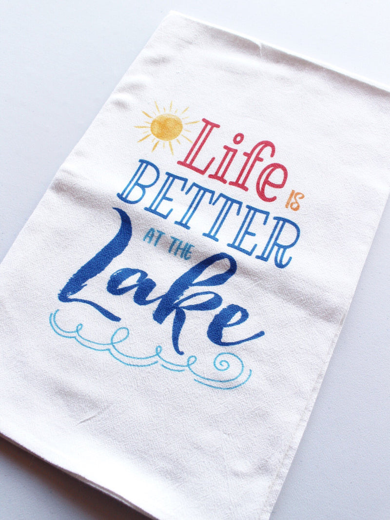Life is Better at the Lake Dish Towel