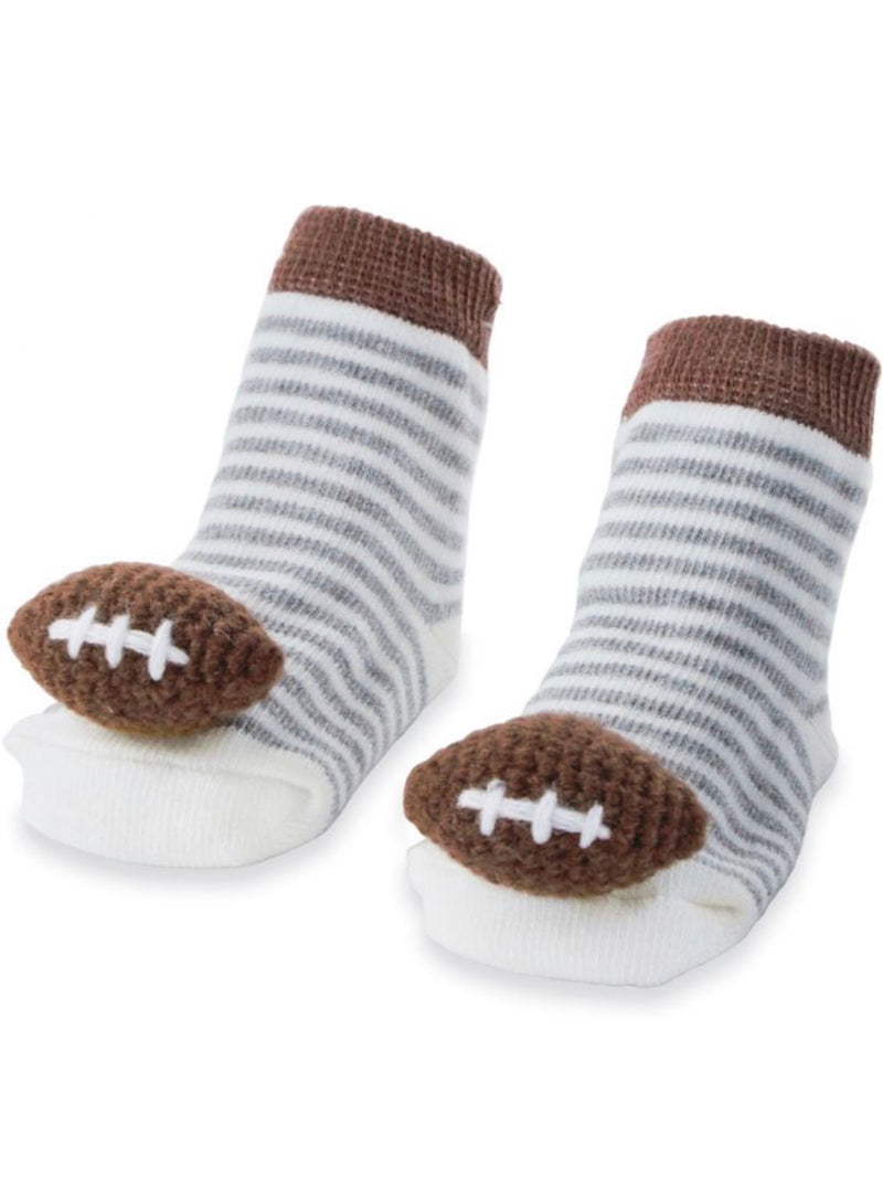 Football Rattle Baby Toe Socks