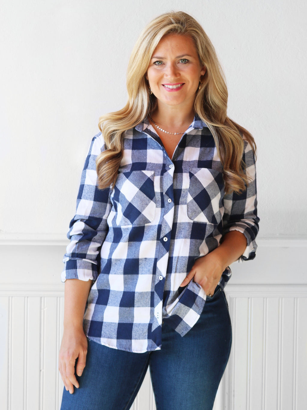 Plaid for You Flannel - Navy