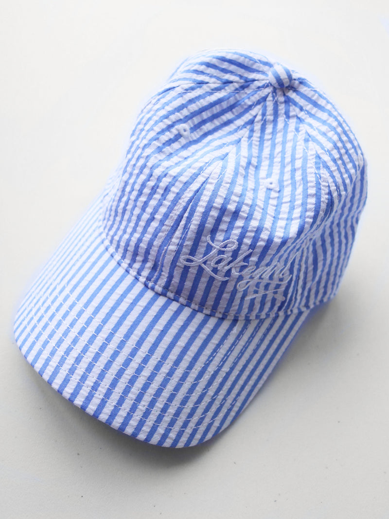 Lakegirl Seersucker Baseball Hat