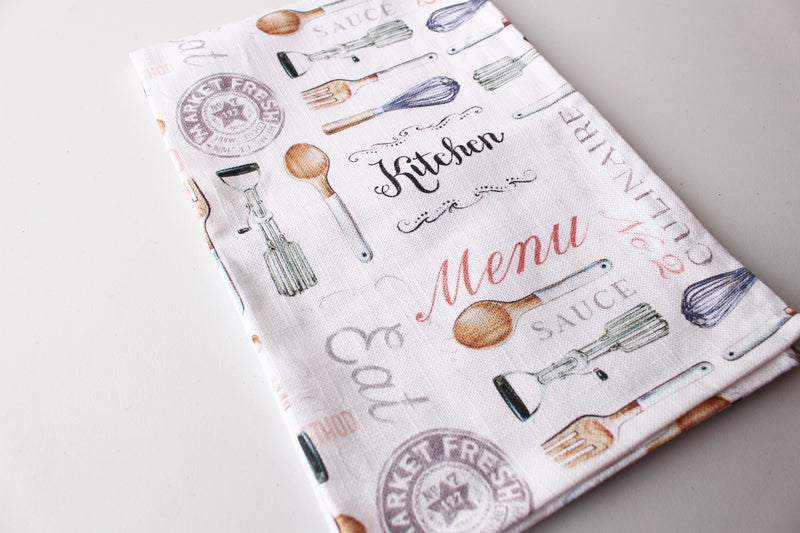 Kitchen Gadgets Tea Towel