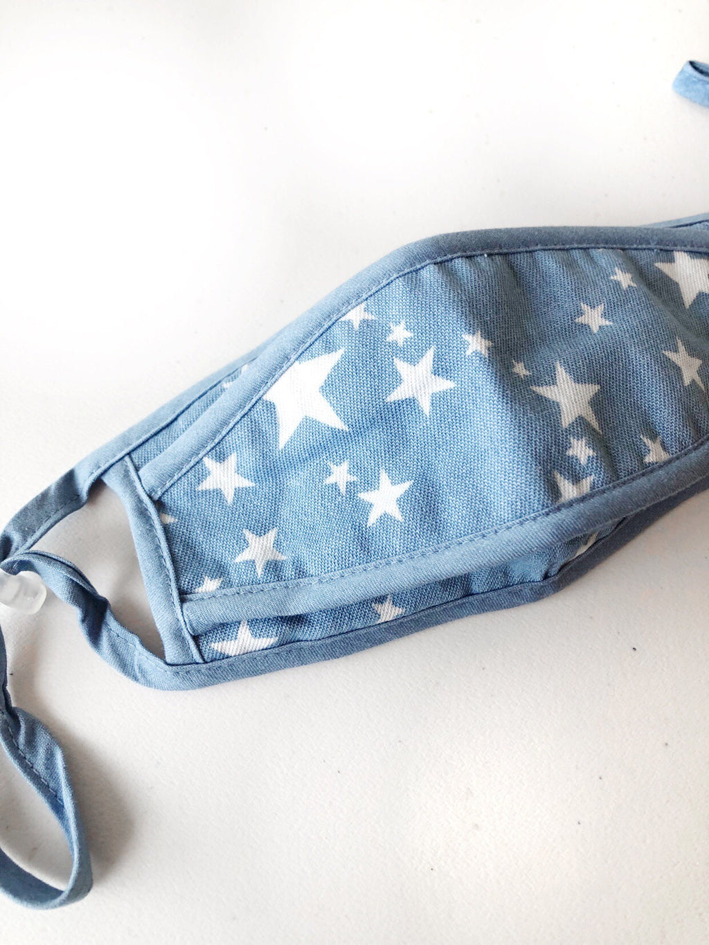 Light Denim Star Face Mask