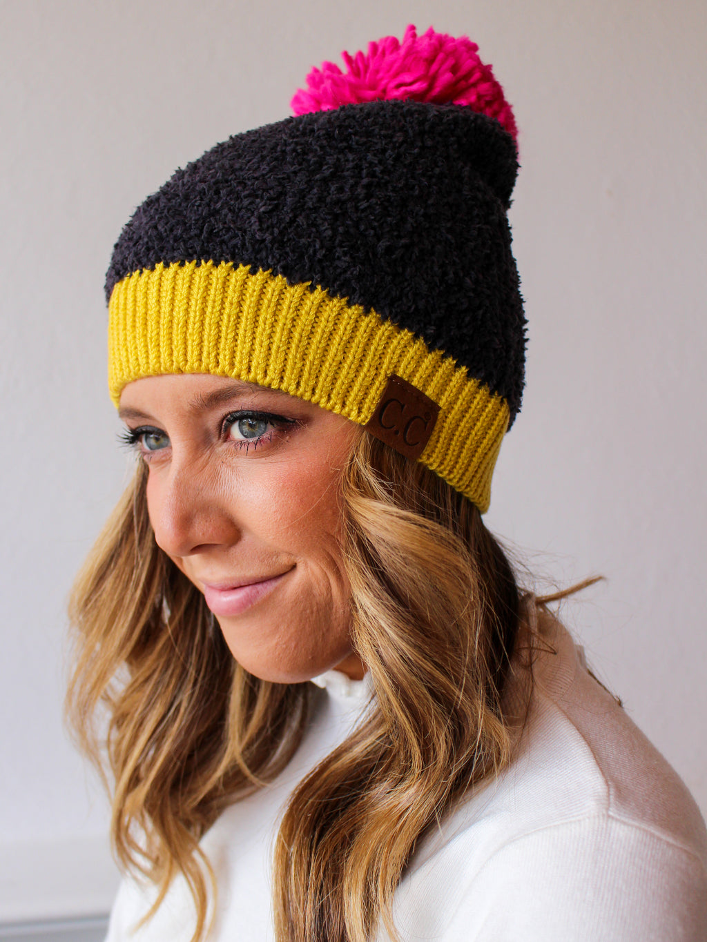Seasons Changing Pom Beanie - Black/Multi