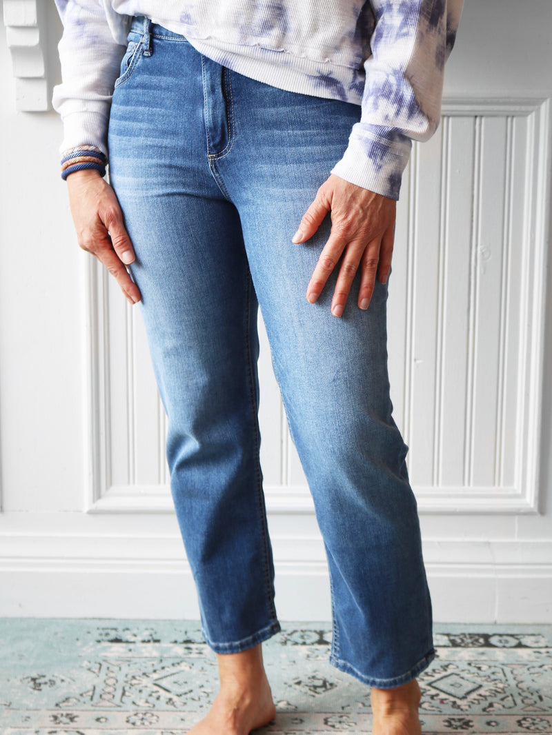 Elizabeth Straight High Rise Denim
