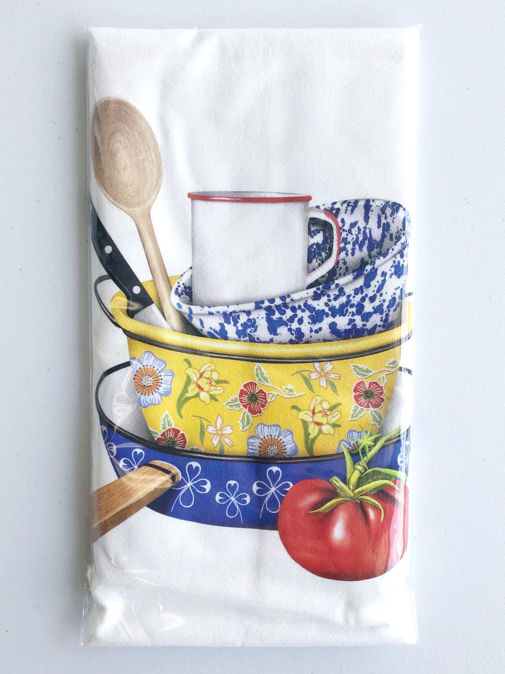 Stacked Dishes Flour Sack Towel
