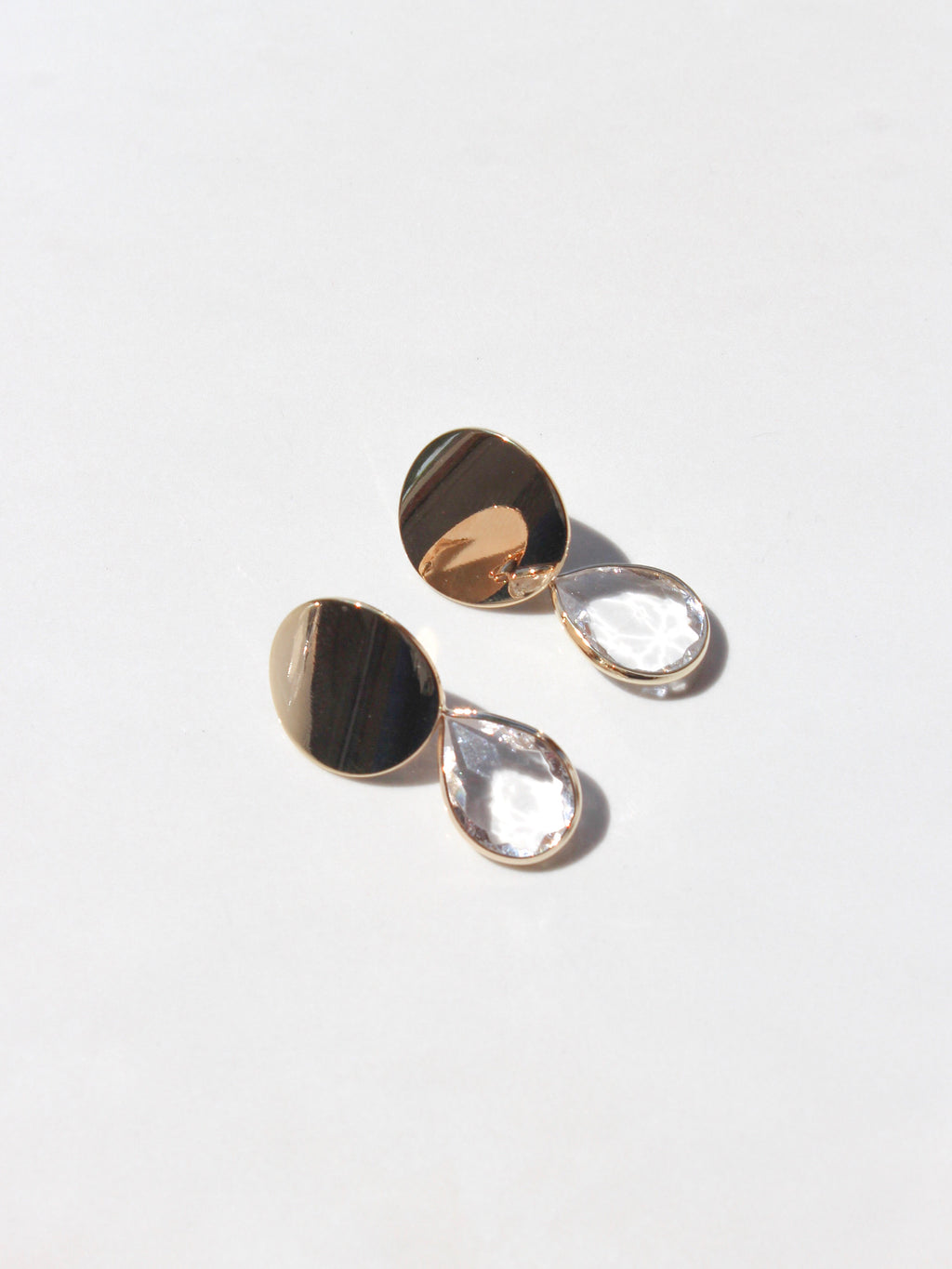 Disc Teardrop Earring