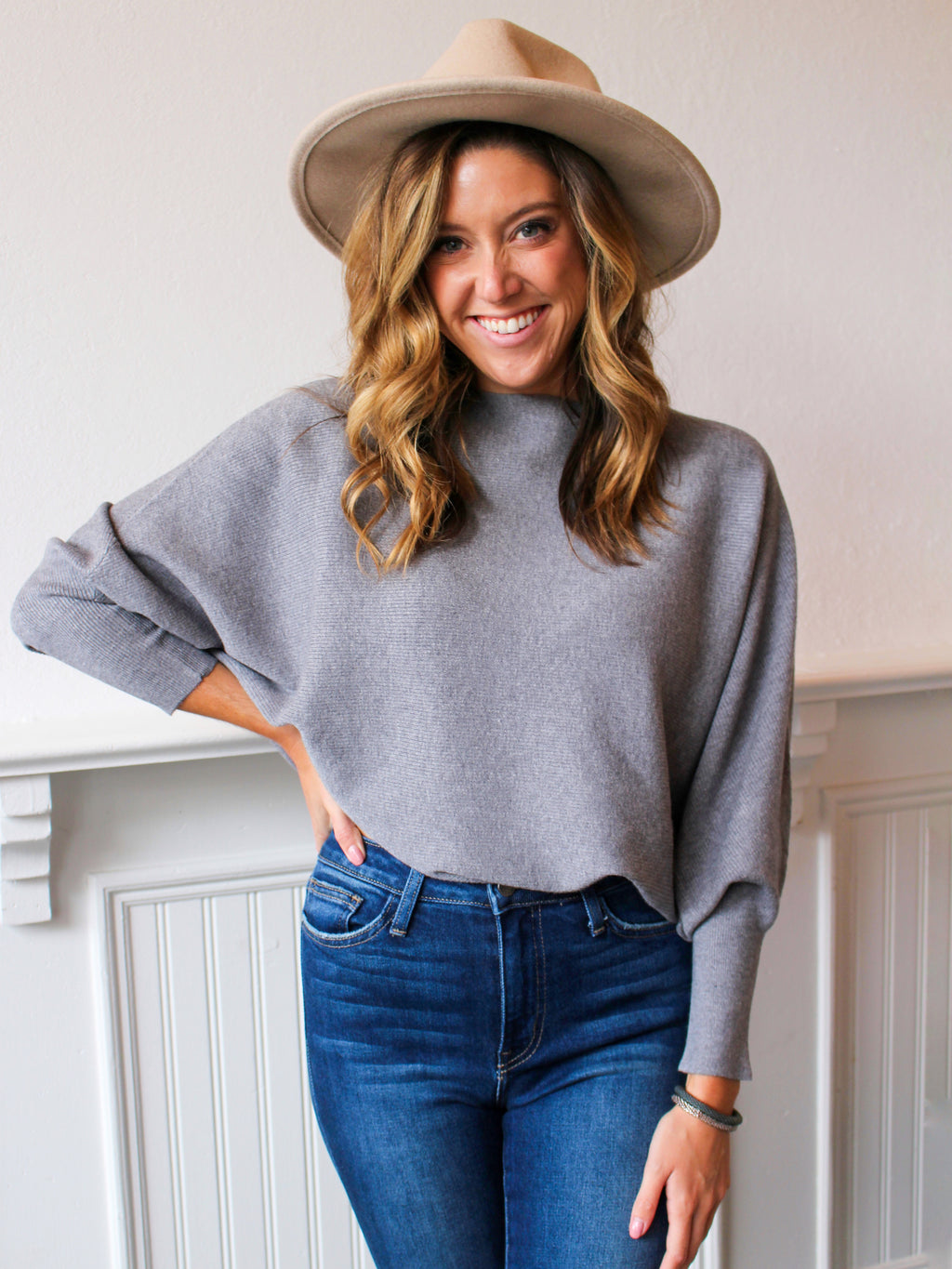Fall Forward Sweater Ash Grey