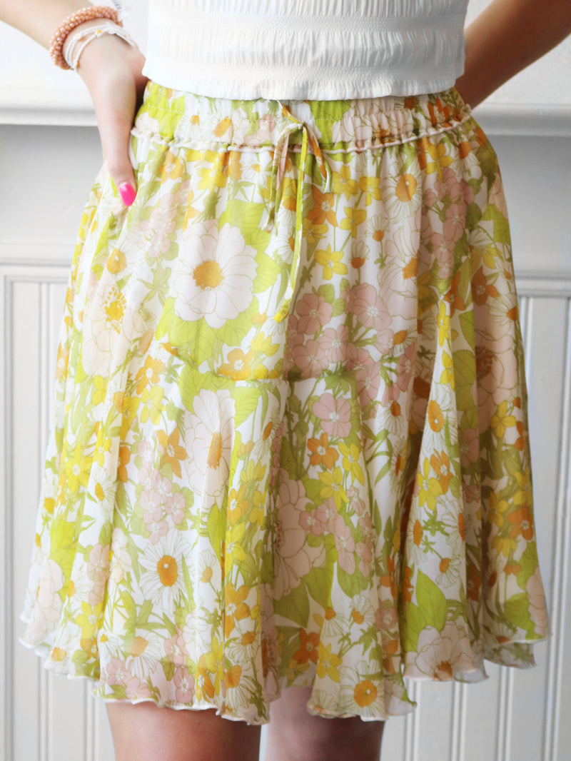 That's So Vintage Floral Skirt