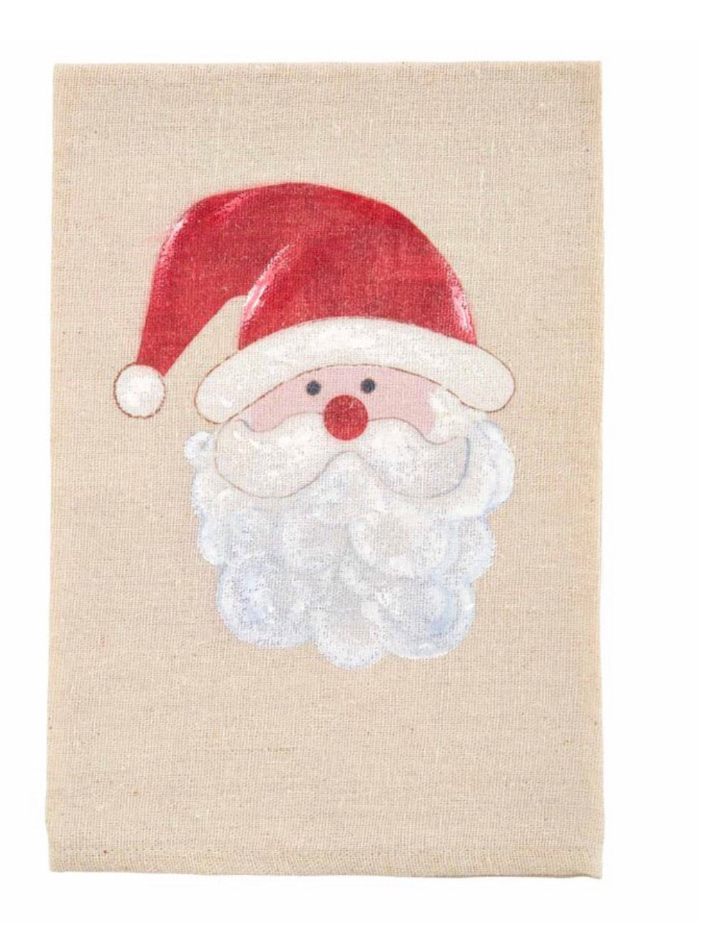 Painted Santa Tea Towel