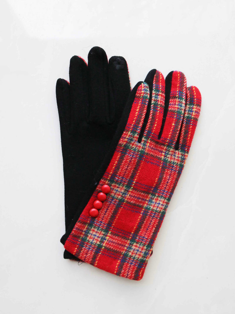 Plaid And Check Smart Gloves