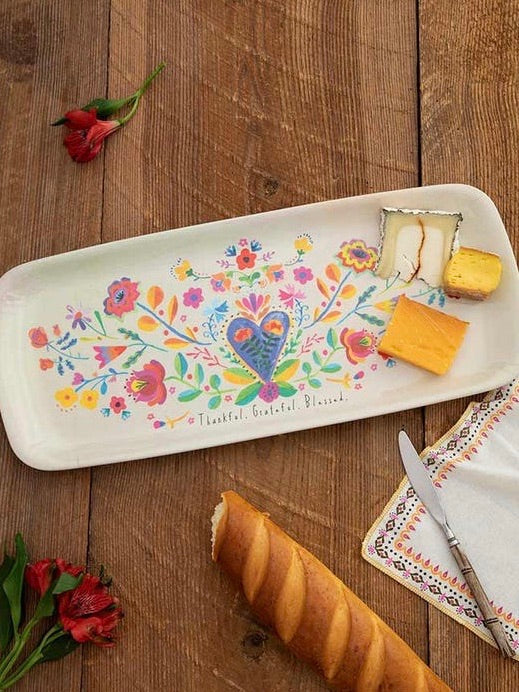 Thankful Grateful Blessed Melamine Tray