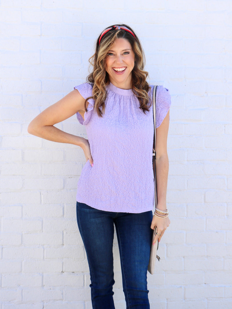 Lilac Fields Top - Purple