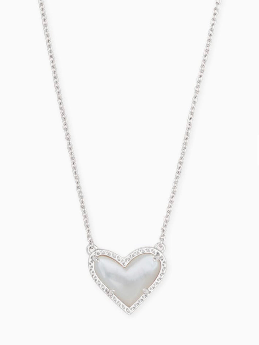 Kendra Scott Heart Necklace- Mother of Pearl