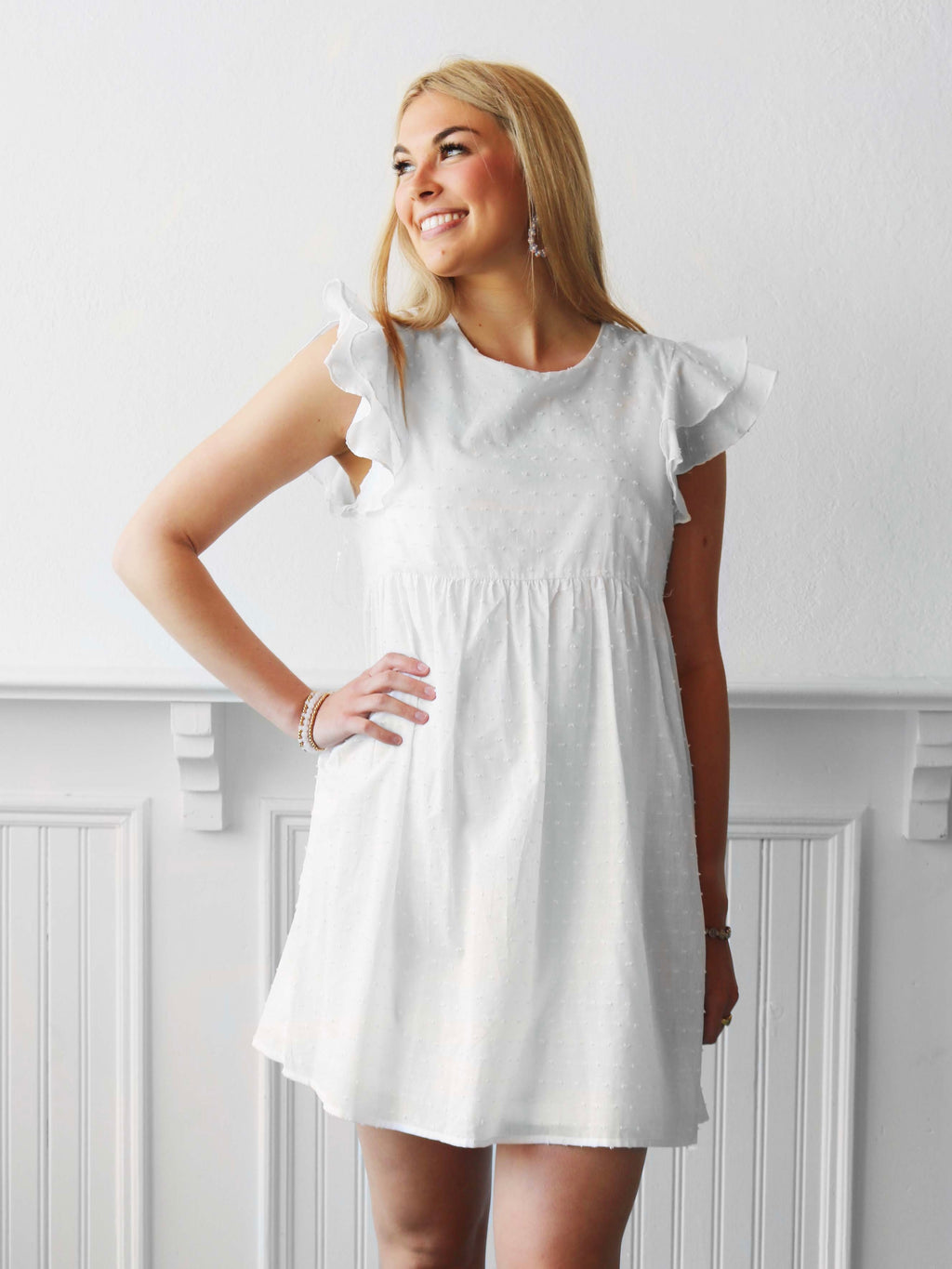 Hannah Babydoll Dress - Ivory