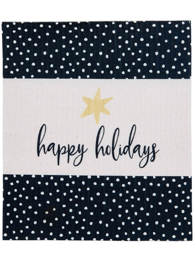 Happy Holidays Organic Dish Cloth