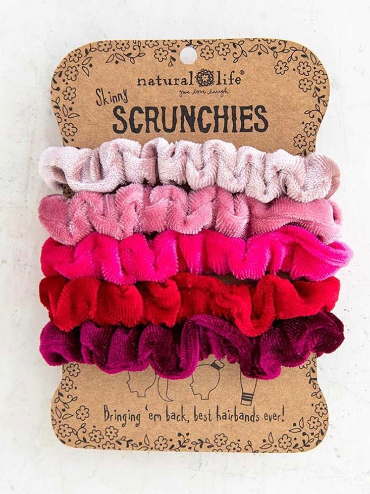 Velvet Scrunchie Set- Red & Pink