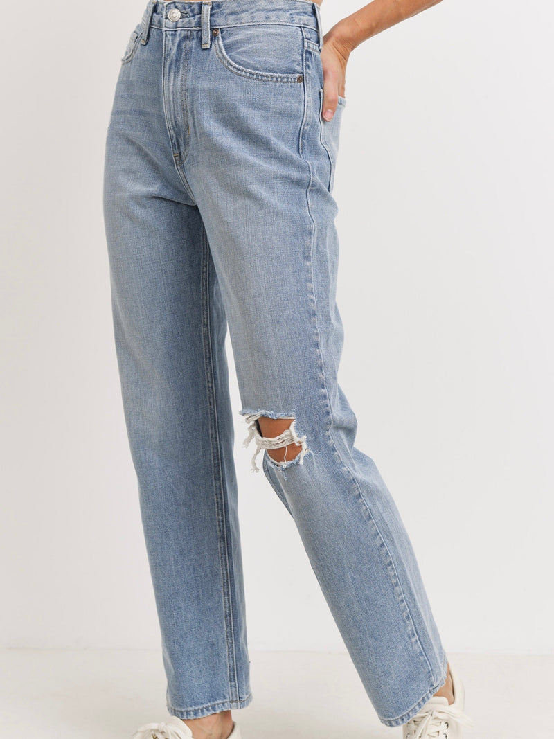 Just Black High Rise Straight Jean