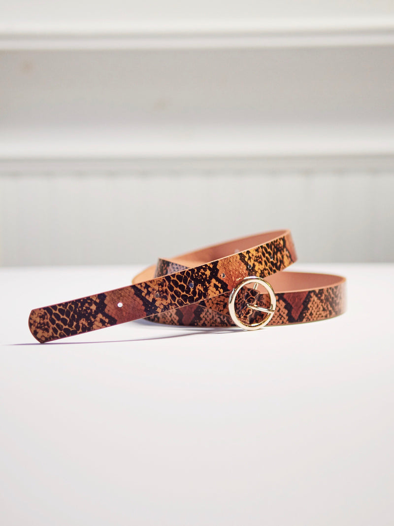 Gold Circle Reptile Belt