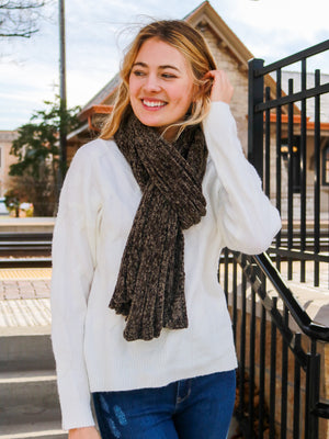 Fireside Memories Scarf- New Olive