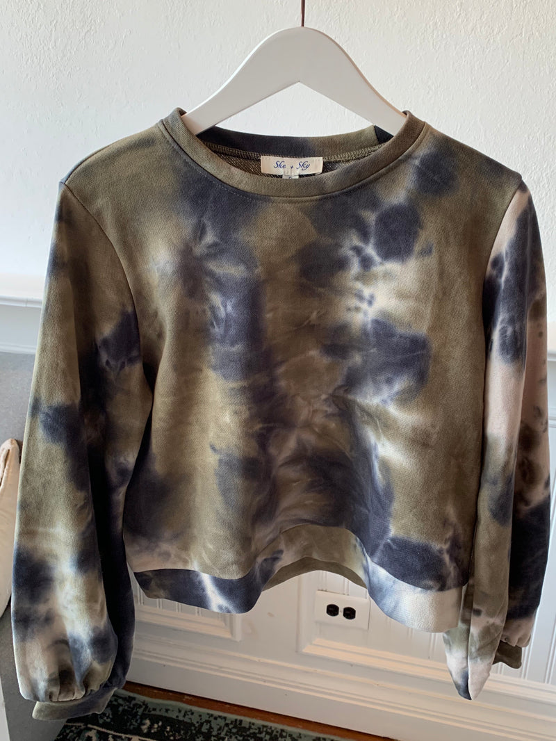 In A Groove Tie Dye Pullover