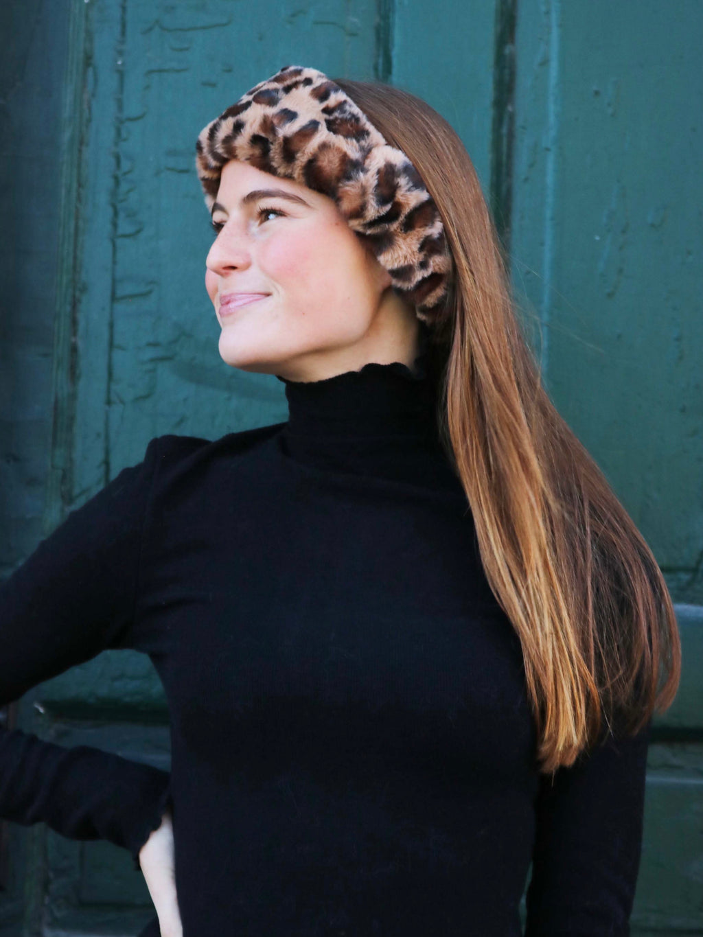 Leopard Faux Fur Headband - FINAL SALE