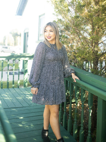 It's A Party Faux Suede Snakeskin Dress
