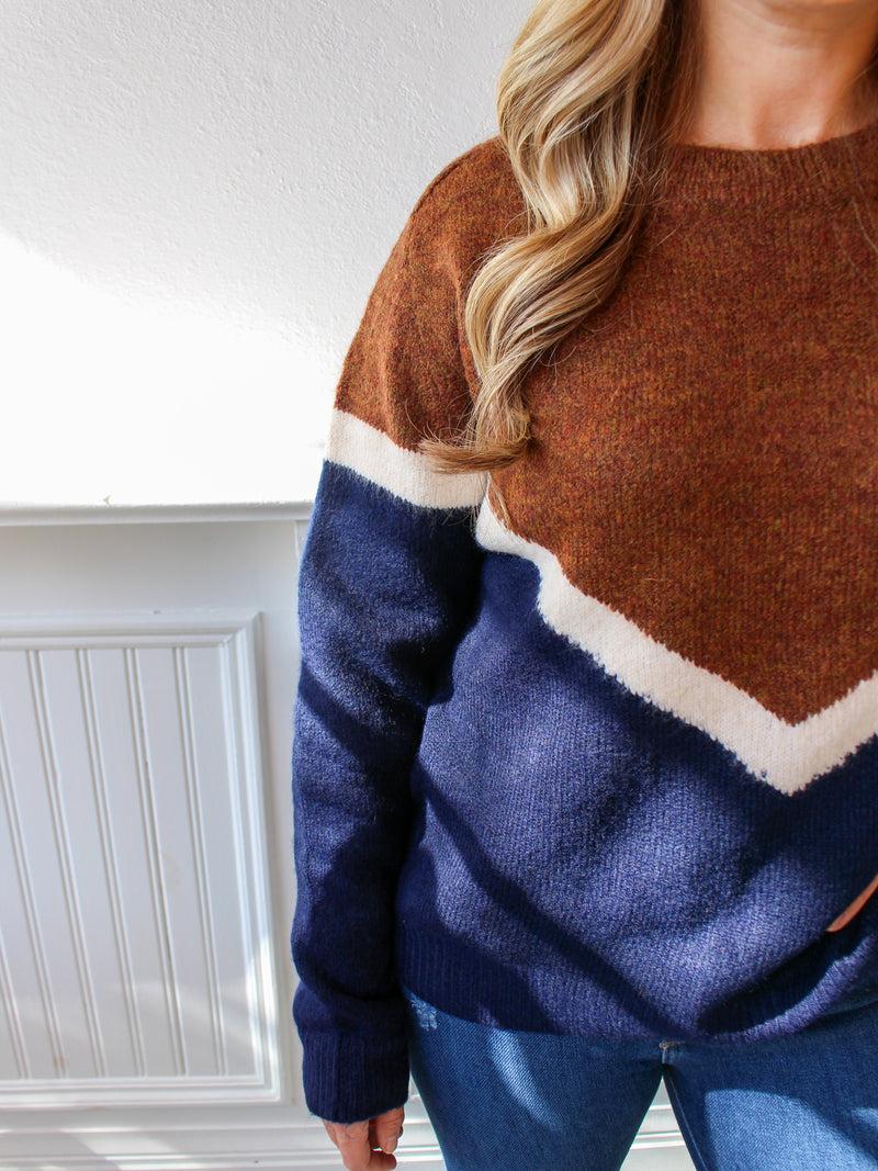 Harvest Vibes Chevron Sweater