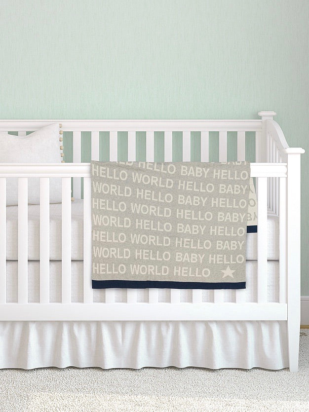 Hello World Baby Blanket