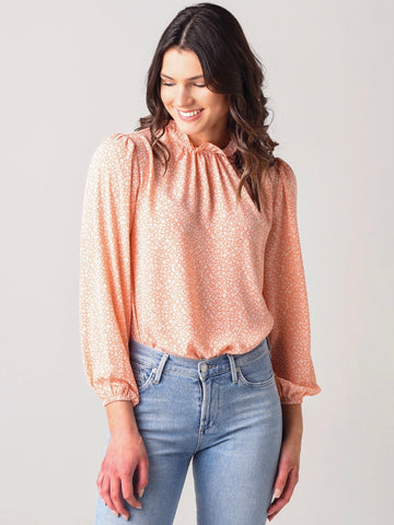 Claire Cloud Tie Dye Top - Rose Mauve
