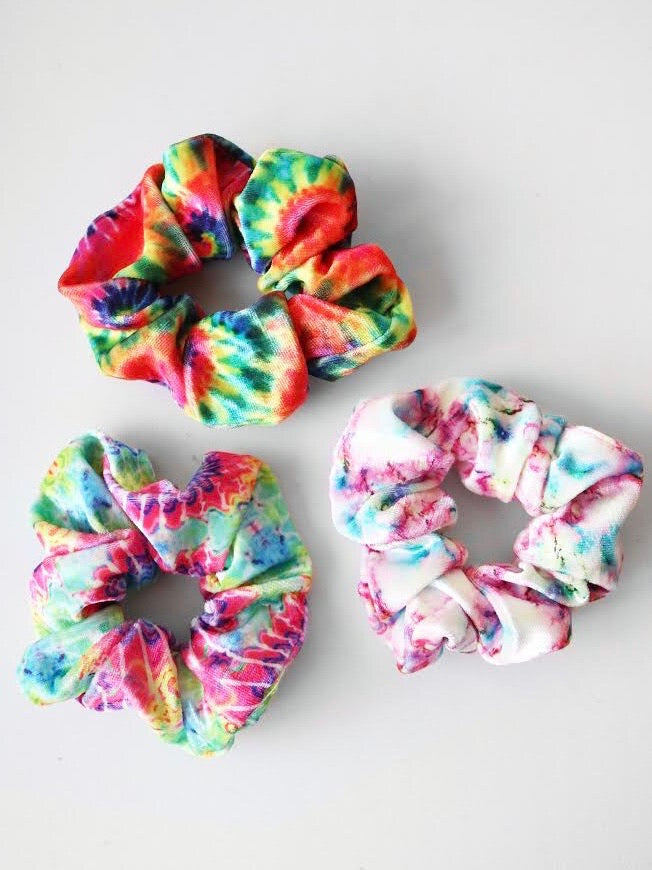 Assorted Tie Dye Scrunchies