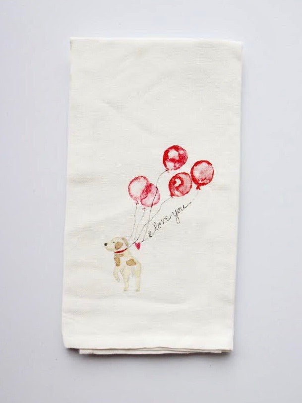 Love Is In The Air Flour Sack Towel