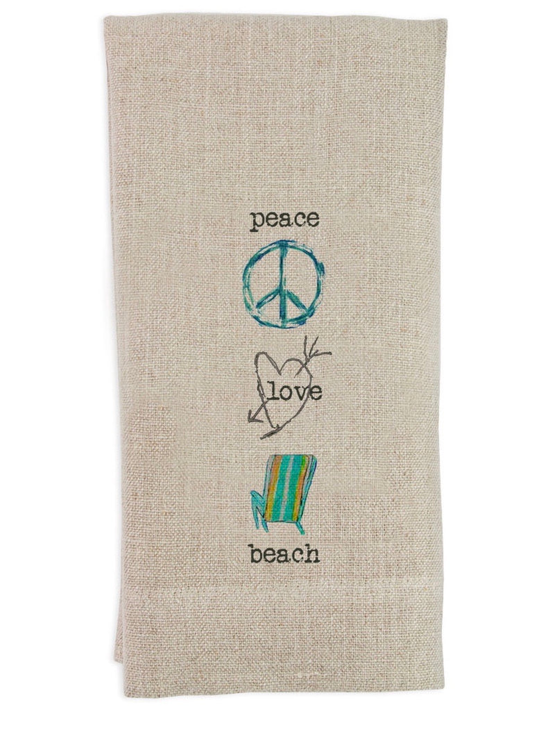 Peace Love Beach Guest Towel
