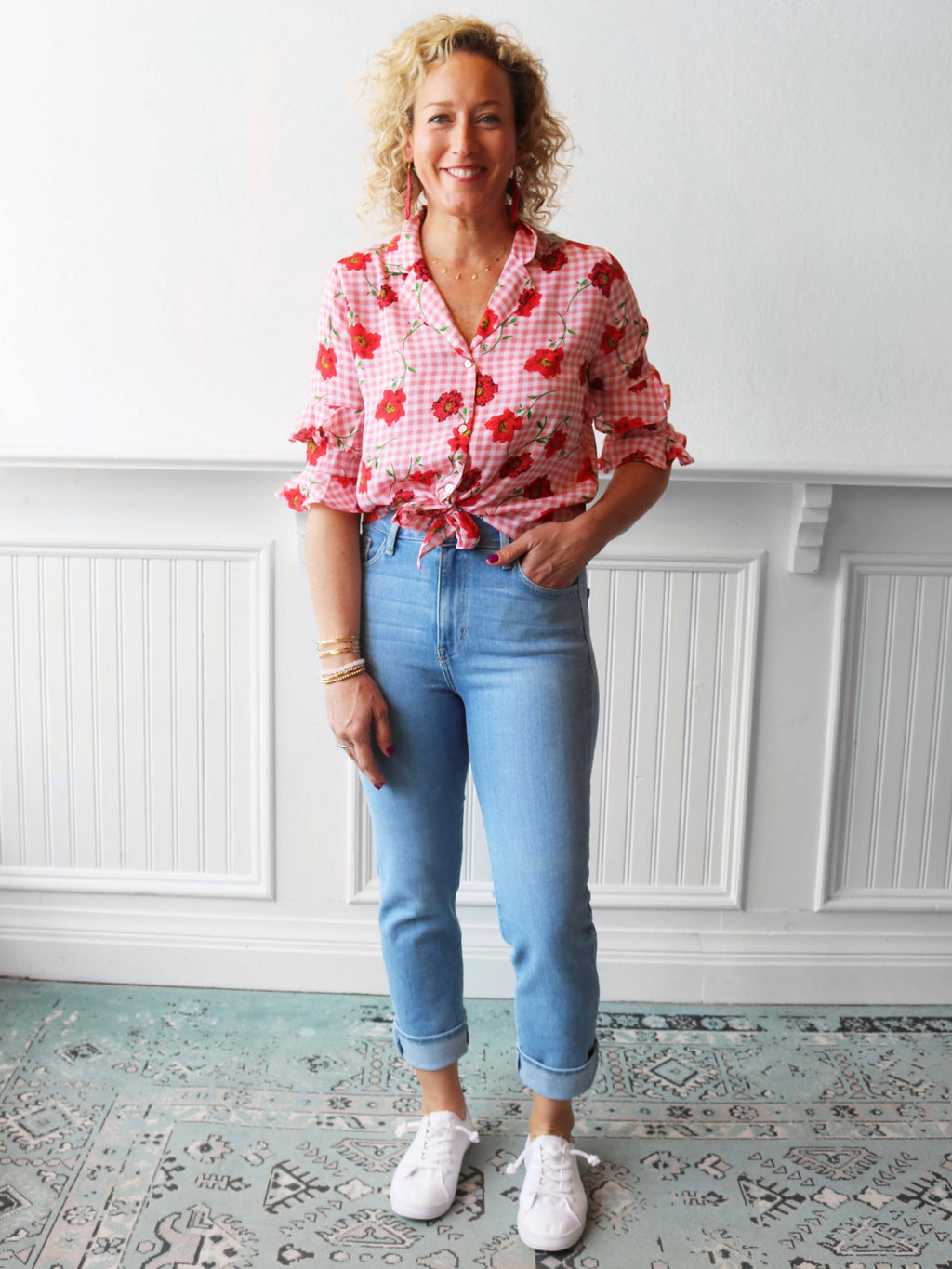 Floral Fields Button Down Top