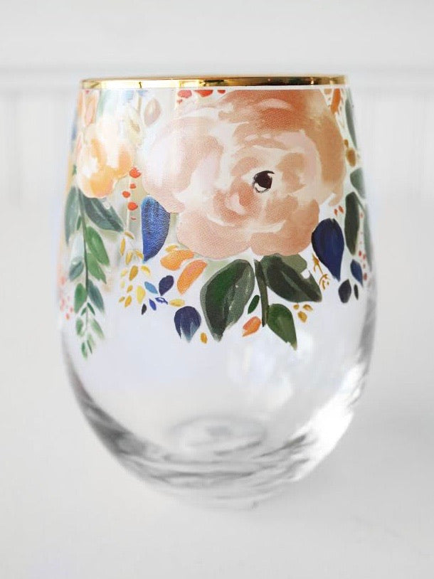 Blossoming Wine Glass