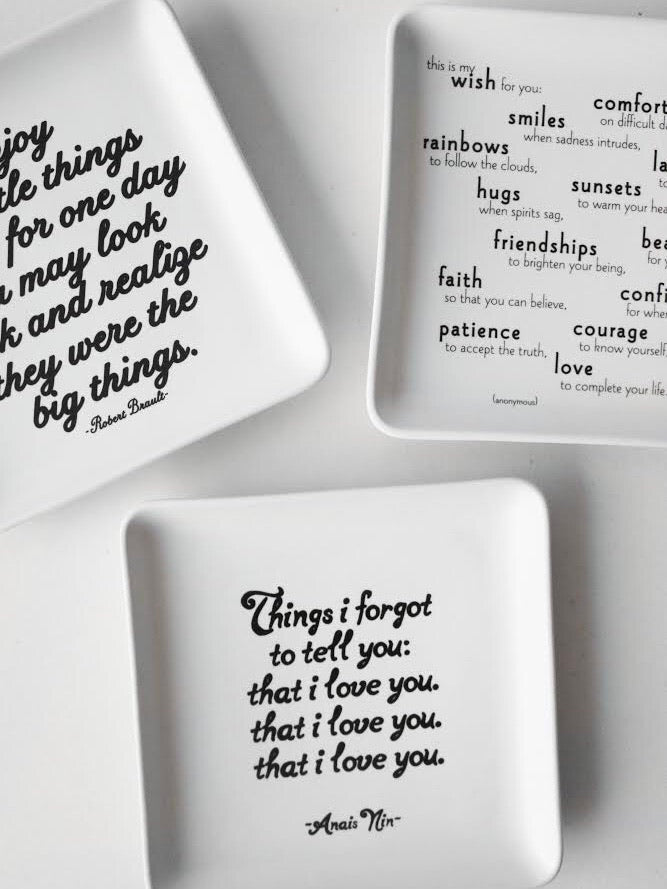 Quotable Trinket Tray