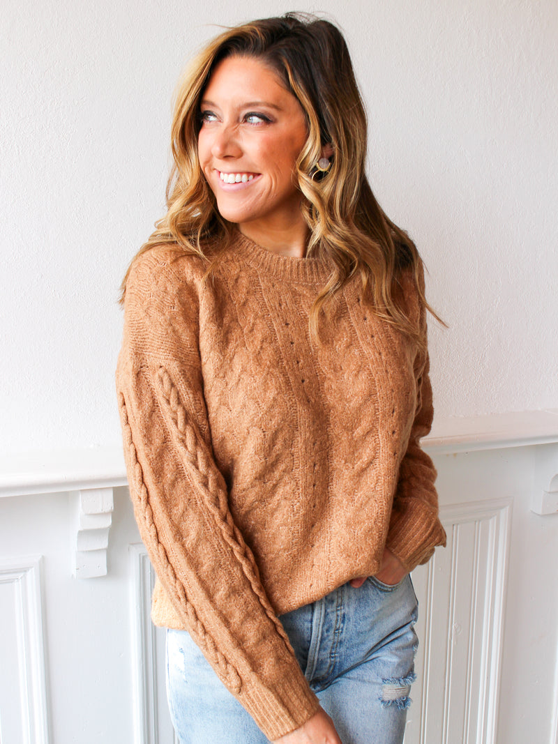 Desert Love Cable Knit Sweater