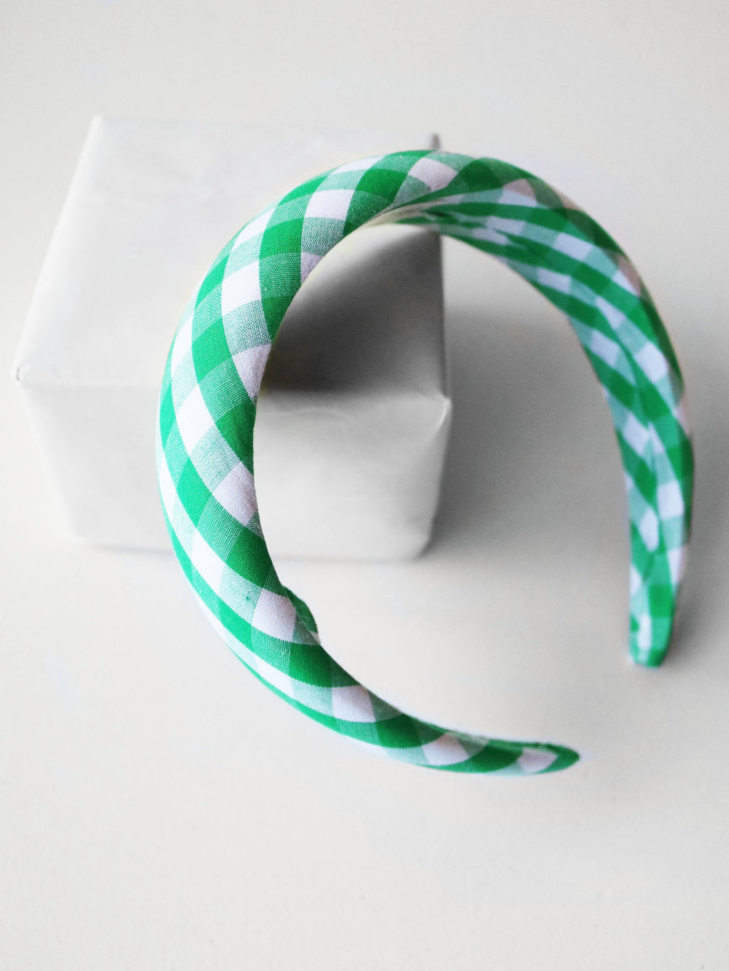 Going Green Gingham Headband