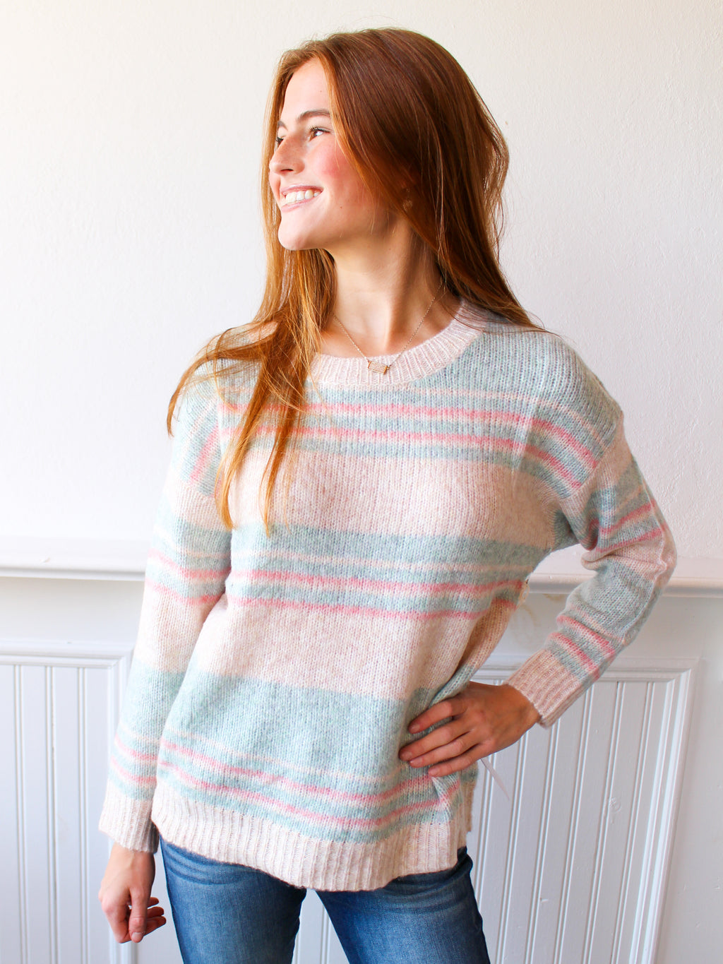 Seaside Striped Sweater