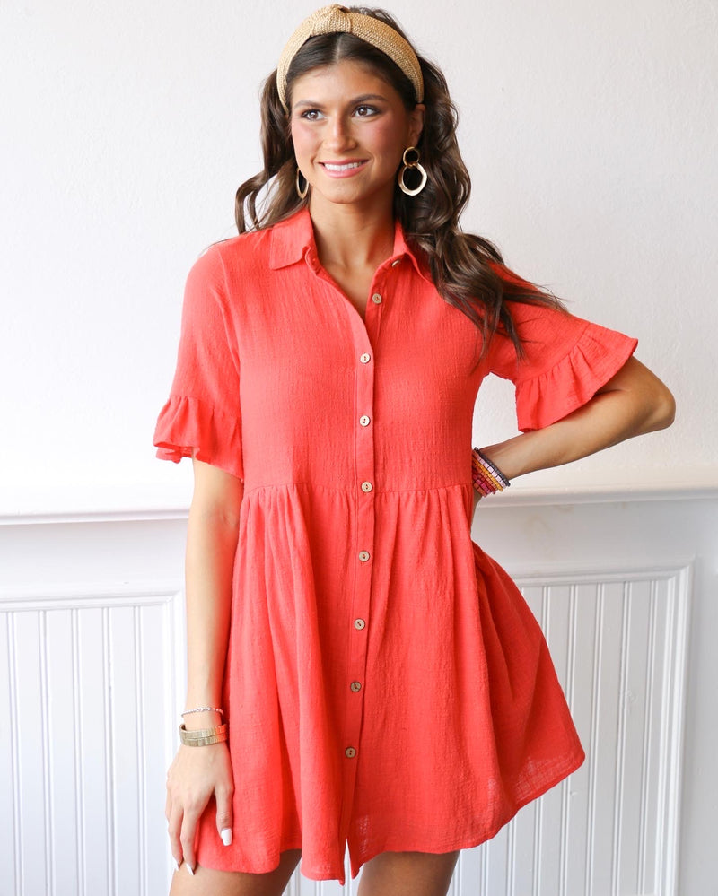 Radiate Button Up Dress
