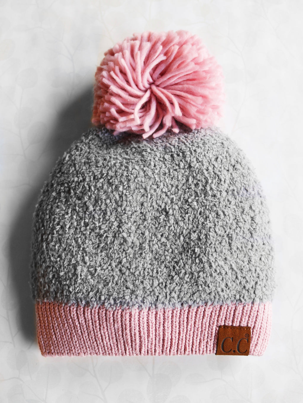 Seasons Changing Beanie - Grey & Pink